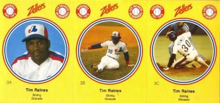1982 Zellers Tim Raines - Montreal Expos