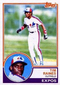 1983 Topps Tim Raines