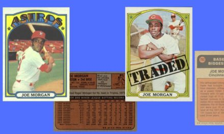 Joe Morgan's Only Houston Astros Memorial Day Game Foreshadowed His 1972 Topps Baseball Cards