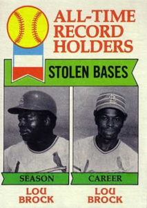 1979 Topps All-Time Stolen Base Leaders - Lou Brock
