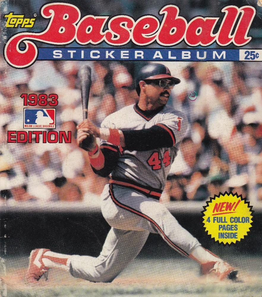 1983 Topps Baseball Sticker Album - Reggie Jackson