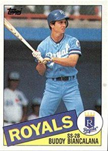 1985 Topps Buddy Biancalana