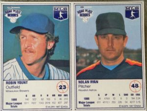 1987 Kraft Robin Yount & Nolan Ryan