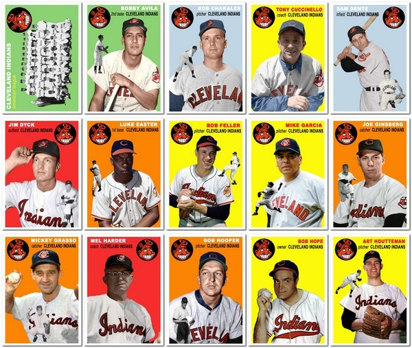 1954 Topps Cleveland Indians