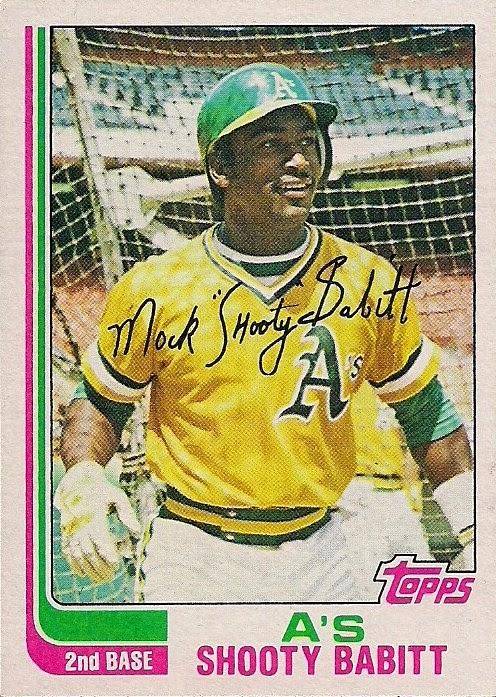 1982 Topps Shooty Babitt