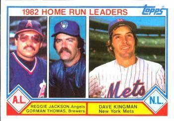 1983 Topps 1982 Home Run Leaders