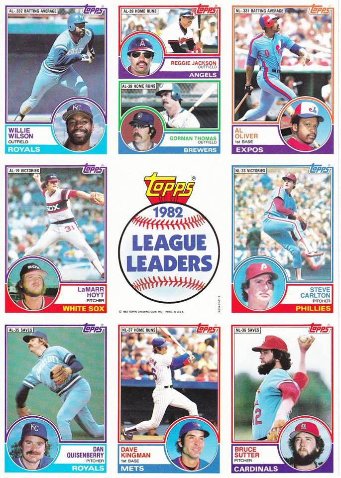 1983 Topps 1982 League Leaders