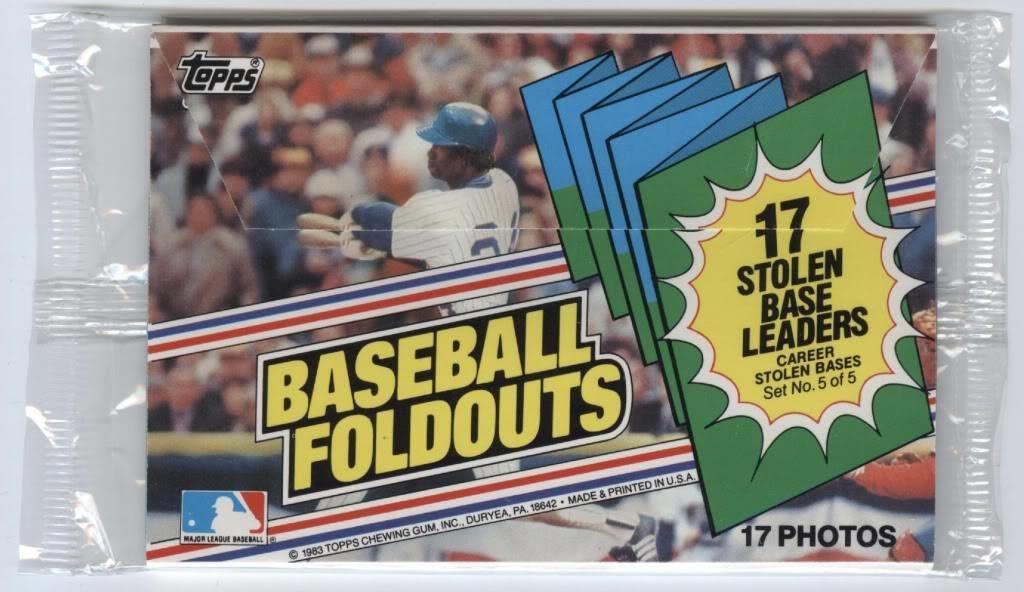 1983 Topps Baseball Foldouts Stolen Base Leaders