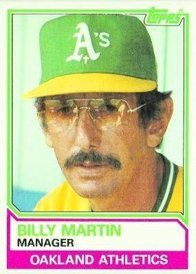 1983 Topps Billy Martin Manager