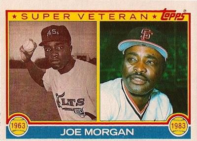 1983 Topps Joe Morgan Super Veteran