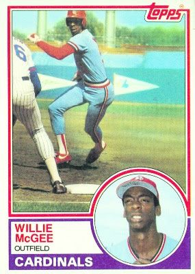 1983 Topps Willie McGee