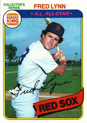 1980 Topps Burger King Fred Lynn