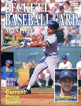 1986 beckett baseball card monthly