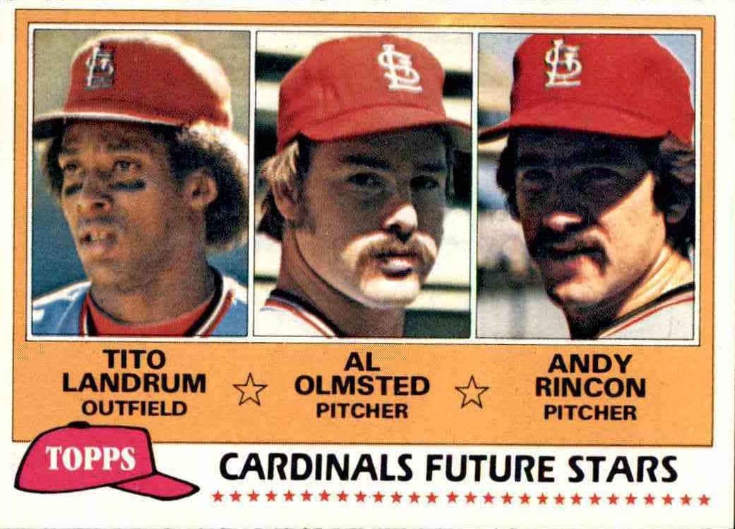 1981 Topps Cardinals Future Stars