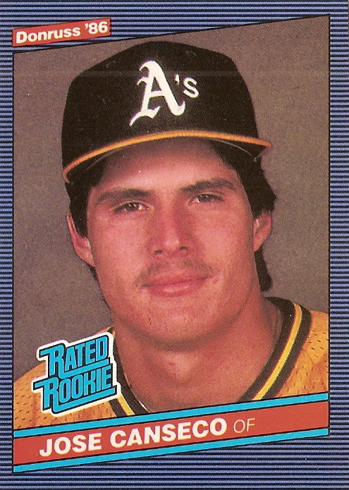1986 Donruss Jose Canseco