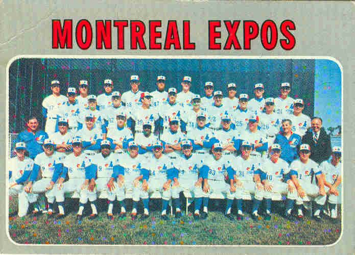 1970 Topps Montreal Expos Team Card