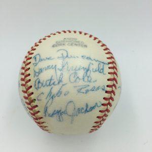 1966 Modesto Reds Reggie Jackson Signed Baseball