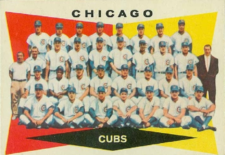 1960 Topps Chicago Cubs Team Card