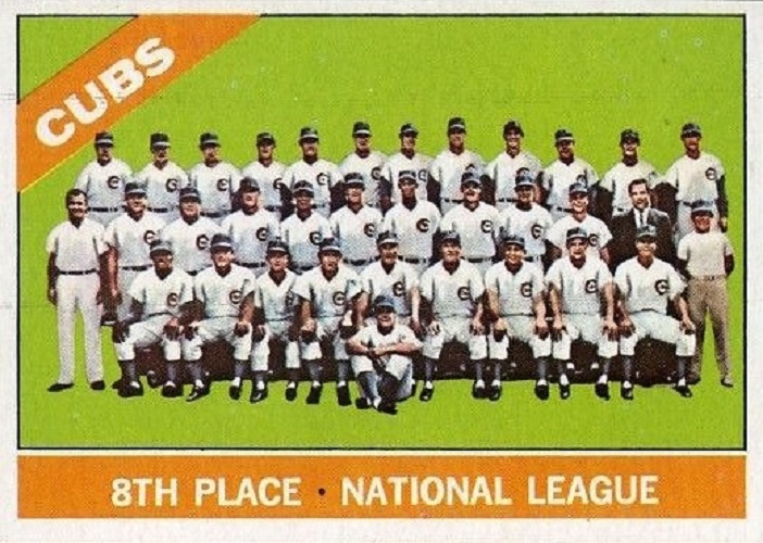 1966 Topps Chicago Cubs Team Card