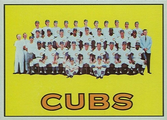 1967 Topps Chicago Cubs Team Card