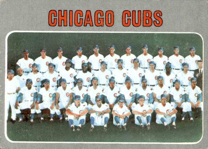 1970 Topps Chicago Cubs Team Card