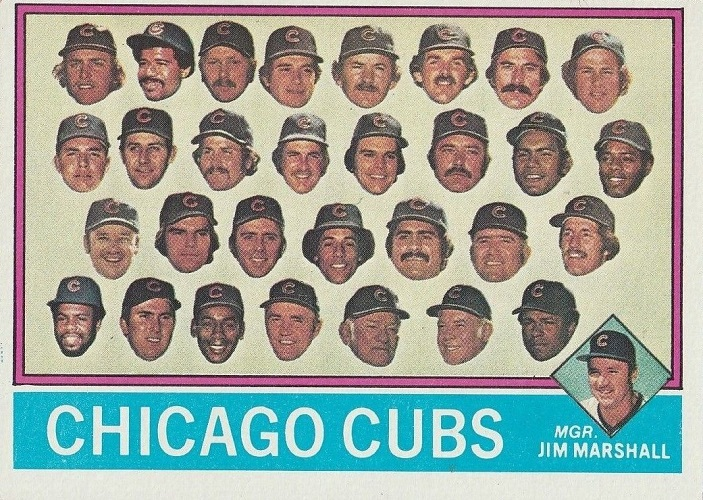 1976 Topps Chicago Cubs Team Card