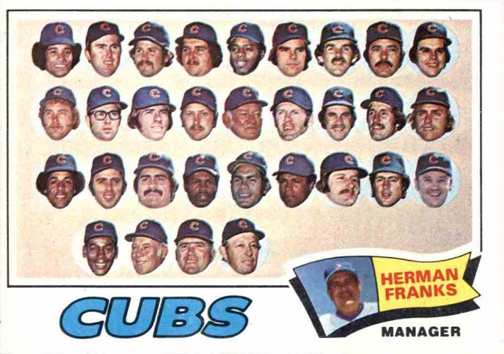 1977 Topps Chicago Cubs Team Card