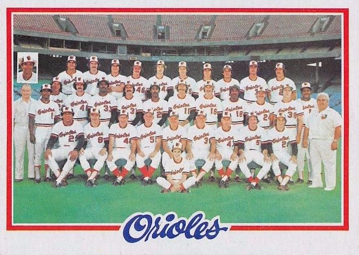 1978 Topps Baltimore Orioles