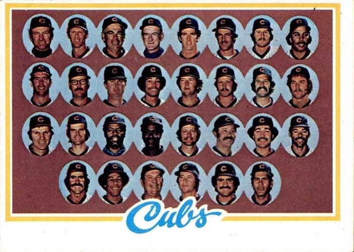 1978 Topps Chicago Cubs Team Card