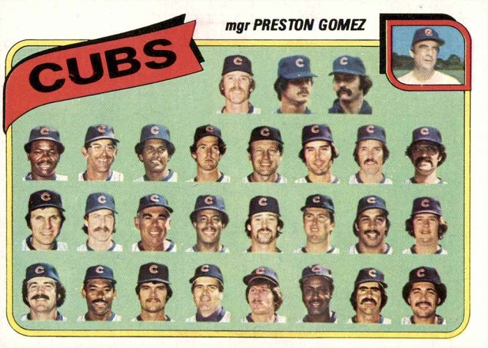 1980 Topps Chicago Cubs Team Card