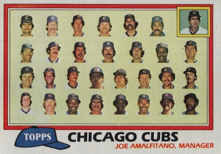 1981 Topps Chicago Cubs Team Card