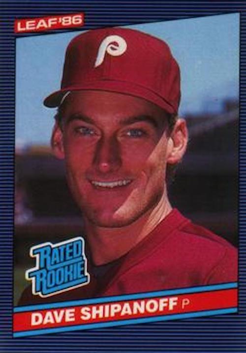 1986 Donruss Rated Rookies Dave Shipanoff