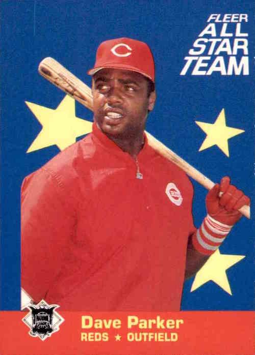 1986 Fleer All Star Team Dave Parker