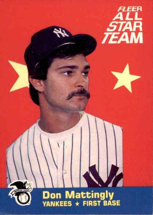 1986 Fleer All Star Team Don Mattingly