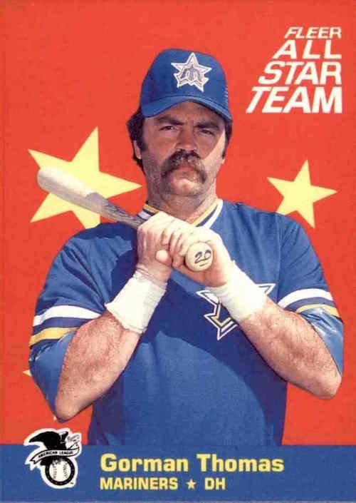 1986 Fleer All Star Team Gorman Thomas