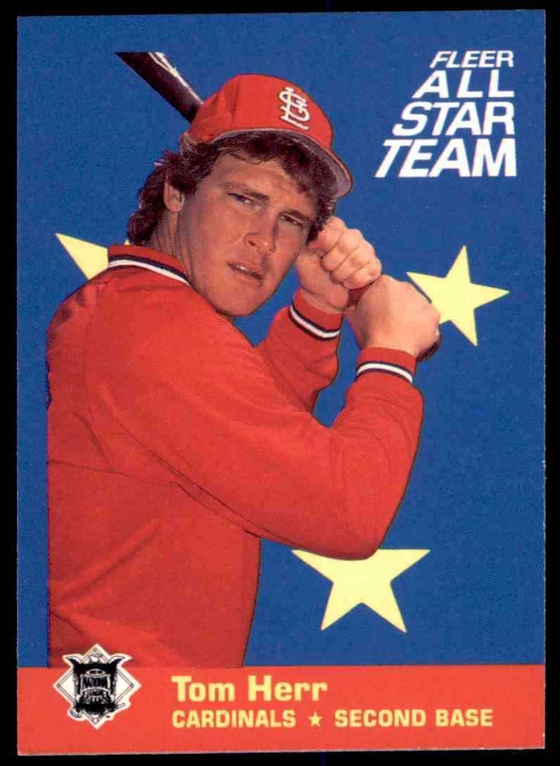 1986 Fleer All Star Team Tom Herr