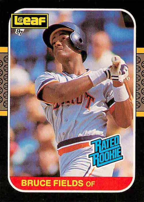 1987 Donruss Leaf Rated Rookies Bruce Fields