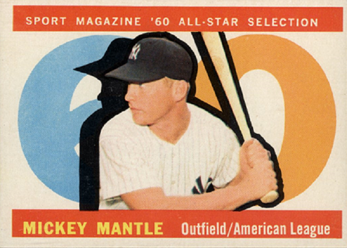 1960 Topps Mickey Mantle All Star
