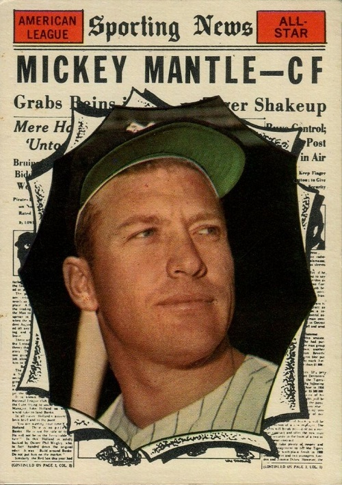 1961 Topps Mickey Mantle All-Star
