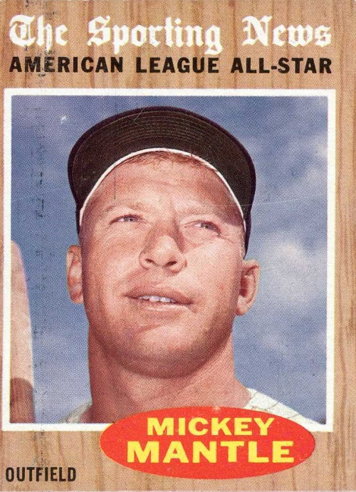 1962 Topps Mickey Mantle All-Star