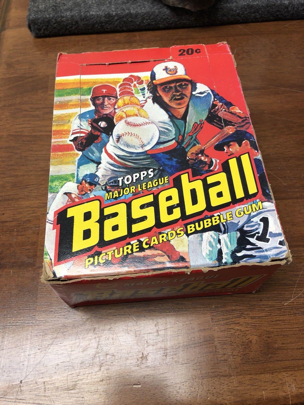 1978 Topps Baseball Cards Unopened Wax Pack Box