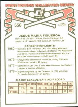 1981 Donruss Jesus Figueroa (back - traded)