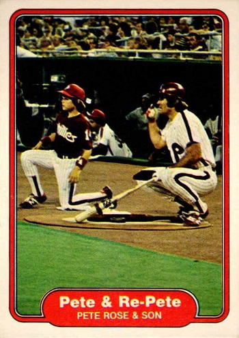 1982 Topps Pete Rose -- Pete & Re-Pete