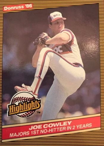 1986 donruss highlights joe cowley