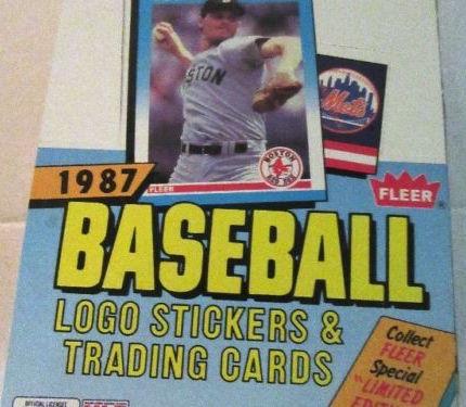 1987 Fleer Baseball Unopened Wax Box