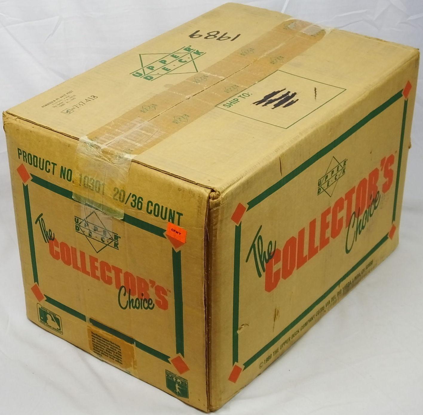 1989 Upper Deck Baseball Cards Unopened Case