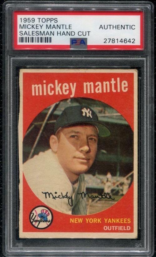 1959 Topps Mickey Mantle Salesman Sample