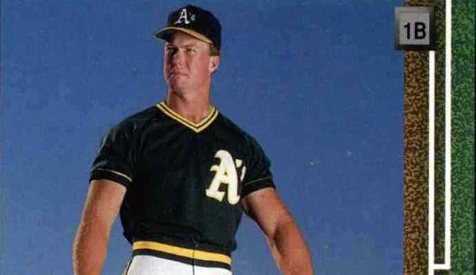 Mark McGwire Is Paul Bunyan on His 1989 Upper Deck Baseball Card