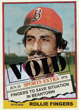 1976 Topps Traded Rollie Fingers