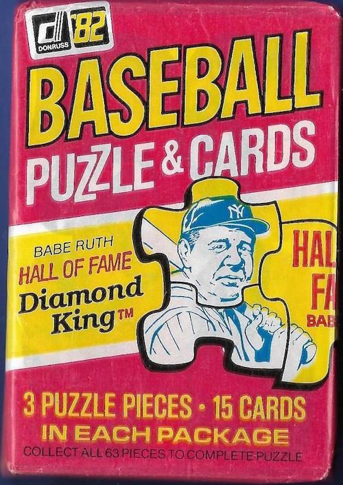 1982 Donruss Baseball Cards Unopened Wax Pack